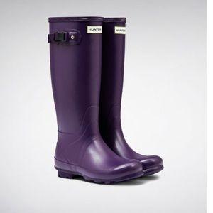 NEW • Hunter • Field Huntress Tall Rain Boots Iris
